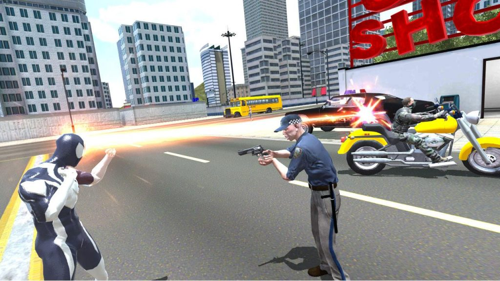 Amazing Strange Rope Police Vice Spider Vegas For PC