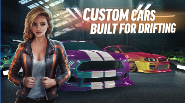 Drift with a variety of custom cars