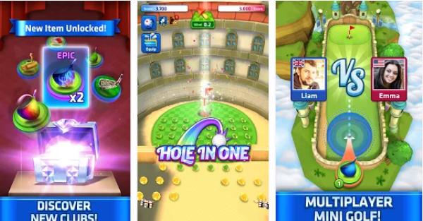 Mini Golf King Multiplayer Game screenshots of playing