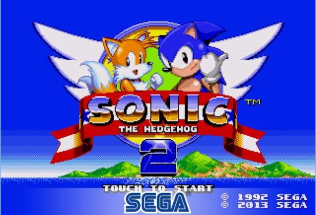 Sonic The Hedgehog 2 Home screen