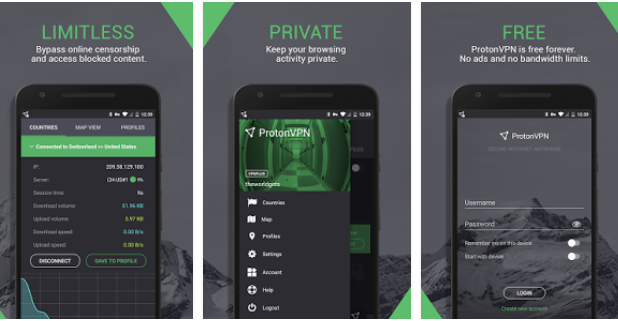 ProtonVPN Unlimited Free VPN For PC