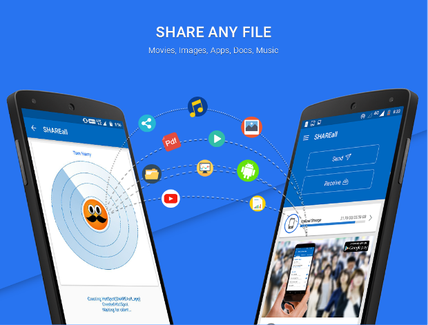 Shareall for PC: File transfer service