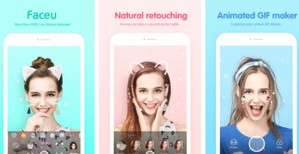 Faceu Cute stickers camera for PC
